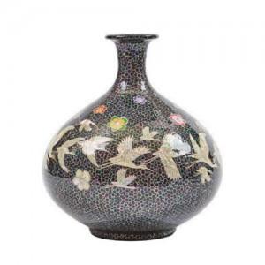 螺鈿花瓶(松鶴)