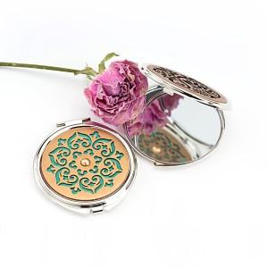 透かし彫り手鏡
