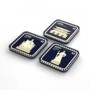 韓国のランドマークスタンプ磁石